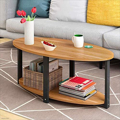 BinLZ-Table Wohnzimmer Beistelltisch Kleiner Runder Tisch Ecktisch Büro Computer Couchtisch Teetisch, Rot-Ahorn, 120 * 60 cm