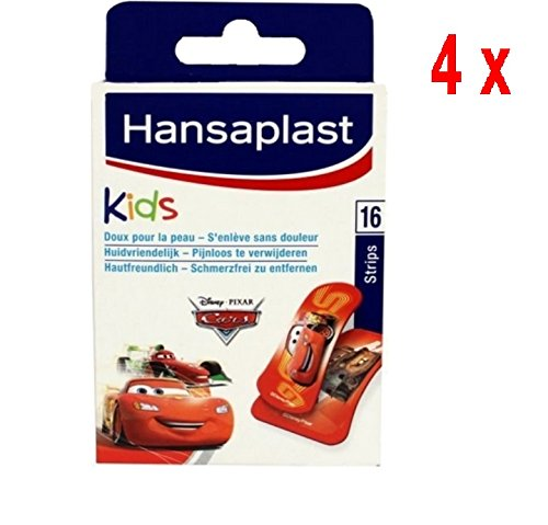 4 x Hansaplast Pflaster - Kinder Disney Cars - 16 Streifen