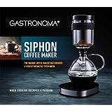Gastronoma 16100122-Siphon-Kaffeemaschine-Vakuum-Kaffeebereiter-360° Basis-Display-Touchbedienung-500 Watt-Warmhaltefunktion- 0,50 Liter