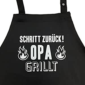 schritt zur ck opa grillt grillsch rze f r m nner. Black Bedroom Furniture Sets. Home Design Ideas