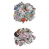 #10: Segolike 200pcs Random Cartoon Stickers Car Skateboard Fridge Laptop Decal Stickers