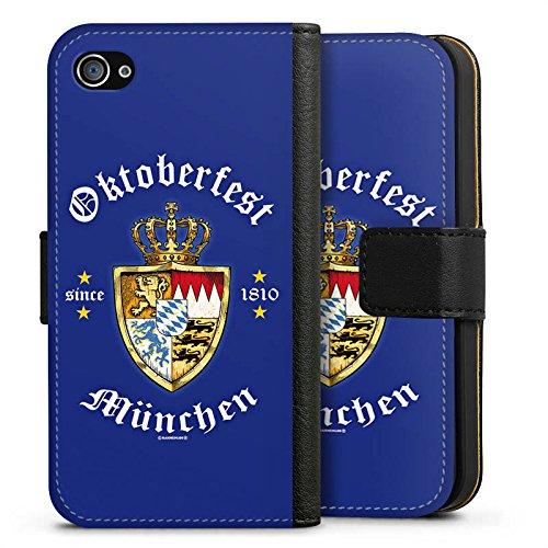 Apple iPhone X Silikon Hülle Case Schutzhülle Oktoberfest Schild Wiesn München Sideflip Tasche schwarz