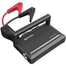 RAVPower Avviatore per Auto 600A Jump Starter Caricabatterie 18000mAh (Output per Accendisigari, Doppia Porta USB iSmart 2.0, Torcia LED di Emergenza ) per tutti i Motori Diesel o a Benzina da 3L o 6L