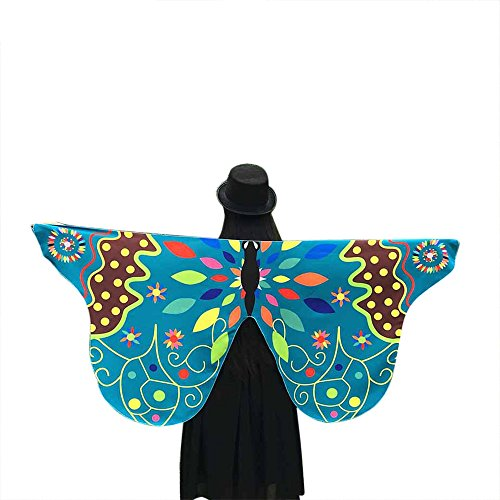 ZEELIY Karneval Fasching Halloween Parties Weiche Stoff Schmetterlingsflügel Schal Fairy Lady Nymphenelf Dress Accessories
