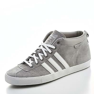 adidas Originals GAZELLE 50S MID Chaussures Mode Sneakers Homme Cuir Suede Gris Blanc adidas Originals T:46 2/3
