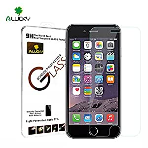 iPhone 6 6S Tempered Glass Screen Protector (4.7 inch Only) Premium 9H Hardness Glass Screen Protector Anti-scratch, Anti-fingerprint, Bubble Free, Explosion-proof and Pressure-resistant