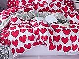 PENVEAT 1 STÜCKE Bettbezug 220 * 240 Bettwäsche Quilt Decke Tröster Abdeckung Druck Einzel Doppel Königin König Maßgeschneiderte 140 * 200 cm Nordic, Farbe 13,155x215 cm
