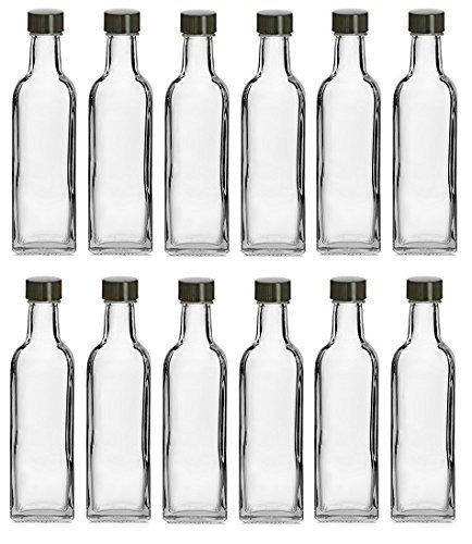nakpunar 60ml quadratisch Glas Schnapsflaschen mit Schwarz Gap 60ml schwarz (Deckel Kunststoff-gläser Mit Großhandel)
