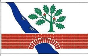 Königsbanner Autoflagge Klein Gladebrügge - 30 x 45cm - Flagge und Fahne