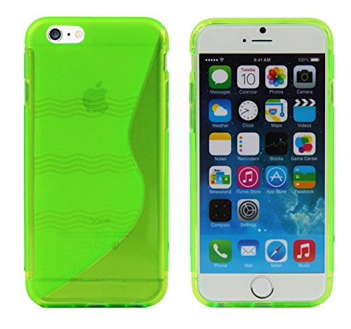 Luxburg® Housse Etui Coque Apple iPhone 6 silicone case TPU Vert pomme Vert pomme