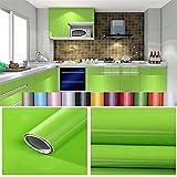 Liveinu Aufkleber Küchenschränke PVC Tapeten Küche Selbstklebend Klebefolie Möbel Wasserfest Aufkleber für Schrank Küchenschränke Möbel Selbstklebende Folie Küchenschrank Küchenfolie Dekofolie Grün 0.6x8m
