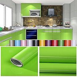 Hode Selbstklebende Klebefolie f/ür M/öbel,K/üche,Wasserdicht Vinyl,40cmX300cm,Blau,Designfolie Selbstklebend