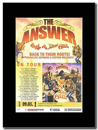 La risposta-Raise a little Inferno UK Tour Magazine promo su una montatura nero