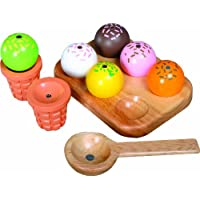 Santoys - Wooden Toys - Pretend Play - Ice Cream Set with 2 Cones