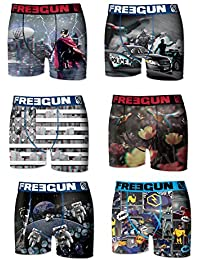 6 Boxers Freegun Collection Effet 3D FG17 Homme