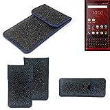 K-S-Trade® Protective Felt Case For Blackberry KEY2 Red