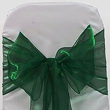 EDS Lote de 100 lazos de organza Lazo para decorar sillas en banquetes de bodas y otras celebraciones, Suministros Decoración para fiestas Lazo para sillas -Más de 30 colores