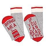 MAXMODA Damen Socken aus Baumwolle mit Schrifte, Lustiges Geschenk zum Valentinstag, Weihnachten, Geburtstag für Frauen