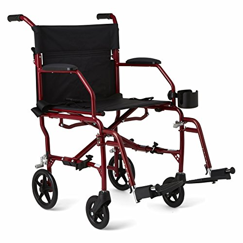 medline-ultralight-transport-chair-19-wide-seat-permanent-desk-length-arms-swing-away-footrests-red-