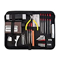 Lixada Guitar Repag Tool Set Electric Bass Maintenance Kit Guitars Caring Tools