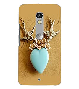 PrintDhaba Heart D-2264 Back Case Cover for MOTOROLA MOTO X PLAY (Multi-Coloured)