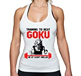 THE LION Train to Beat Goku Golds Son Gym Camiseta sin Mangas para Mujer Dragon Master Son Ball...