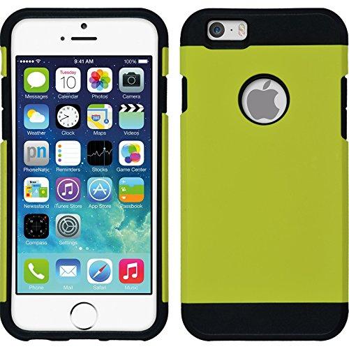 Hybridhülle für Apple iPhone 6s / 6 - ShockProof rosa - Cover PhoneNatic Schutzhülle + 2 Schutzfolien gelb