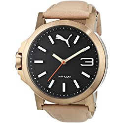 6c116ac8eb75 Puma Ultrasize 45 - Reloj análogico de cuarzo con correa de cuero para  hombre