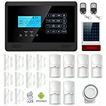 KIT Solar Plus M2E Antifurto Allarme Casa Kit Wireless Senza Fili Controllabile da Cellulare con App Gratuita. Kit con Sirena Solare