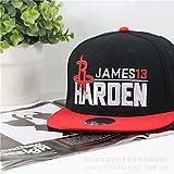 WEII NBA Basketball Team Baseball Caps Sterne mit Dem Flachen Hut Visor Fans Sport Cap,Härten,Einheitsgröße