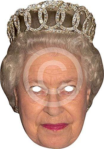 Damen Halloween Royals Kostüm Verkleidung Zubehör Witz Karte Gesichtsmaske - H.M-königin, One size