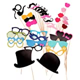 CLE DE TOUS@ 36pcs Set Accesorios para Photocalls Photocall party set Las pajitas Papel Decorativo Para Fiesta Mascarada