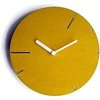 28cm Orologio da muro moderno in legno silenzioso ispirato alla sequenza dei numeri di Fibonacci colorato come giallo…