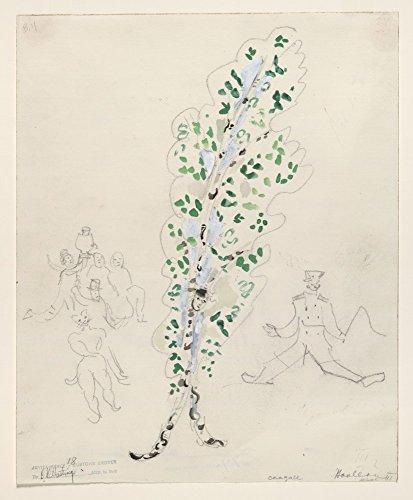 Das Museum Outlet–Marc Chagall–Eine Birke Baum, Kostüm Design für Aleko, gespannte Leinwand Galerie verpackt. 50,8x (Kostüme Kostüm Galerie)
