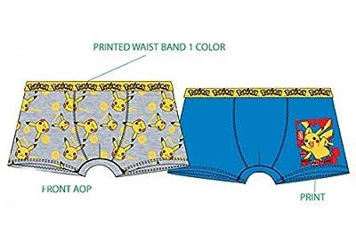 Pack de 4 boxers diseño Pokemon (2 diseños diferentes) tallas 4/5, 6/8 y 10/12 (95% algodon, 5% elasthan)