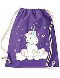 Bolsa de Yute Bolsa de Gimnasio Bolsas de deporte Bolsa de tela bolsa de algodón Mochila Con Cordel Algodón Gymsack unicornio unicornio Cutie