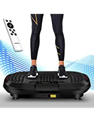 Icefox Profi Vibrationsplatte,3D Dual-Motor Fitness vibration plate mit Bluetooth 4.0 Lautsprecher / LCD Display & Fernbedienung /10 Trainings-Programme-180 Level