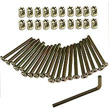 Allen à tête meubles M6 Boulon et écrou Corps 10 mm 20 mm 25 mm 30 mm 40 mm 50 mm 60 mm Plaqué zinc 100 mm Douille hexagonale capuchon meubles Corps ...