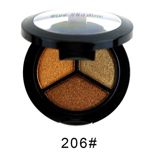 Momoxi Lidschatten,Augen Make-up Augenbrauenstift Smoky Cosmetic Set 3 Farben Professioneller natürlicher Matt-Makeup-Lidschatten
