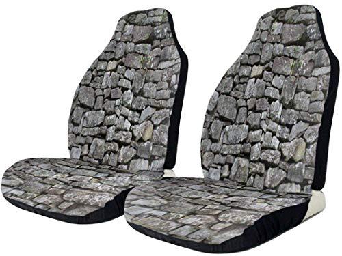 Coprisedile per auto in pietra vintage impermeabile resistente per seggiolino auto universale universale confortevole seggiolini auto in poliestere opaco asciugatura rapida cuscino auto