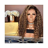 58SD African Little Curly Natural Looking Brown Shoulder Curly For Women Daily (Color : Brown)