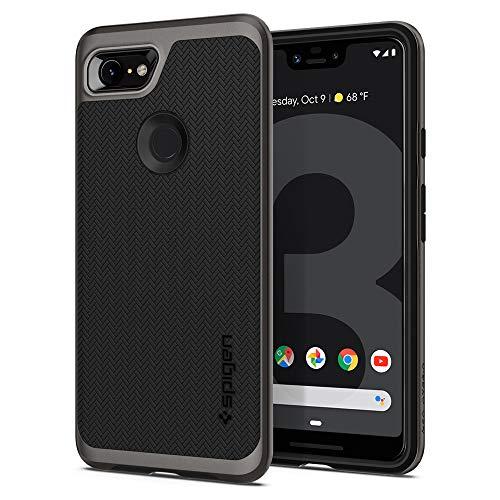 Spigen Neo Hybrid, Google Pixel 3 XL Hülle, F20CS25026 Zweiteilige Handyhülle Modische Muster Silikon Schale und PC Rahmen Schutzhülle Case (Gunmetal)