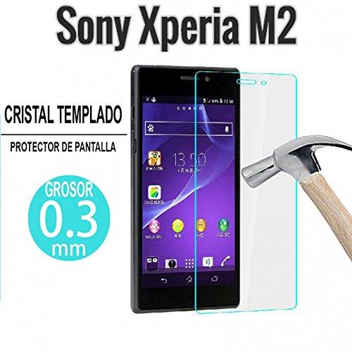 Generica - Protector De Pantalla De Cristal Templado Premium Sony Xperia M2 Y M2 Aqua