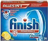 Finitura/Calgonit All in 1 Citrus, schede lavastoviglie, 26 tabs