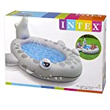 Intex Kinderpool Sandy Shark Spray Pool, Grau, 229 x 226 x 107 cm -