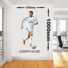 Personalizado Vinilo adhesivo de pared, modelo Ronaldo Real Madrid jugador de fútbol arte de pared vinilo adhesivo, 1000mm x 430mm