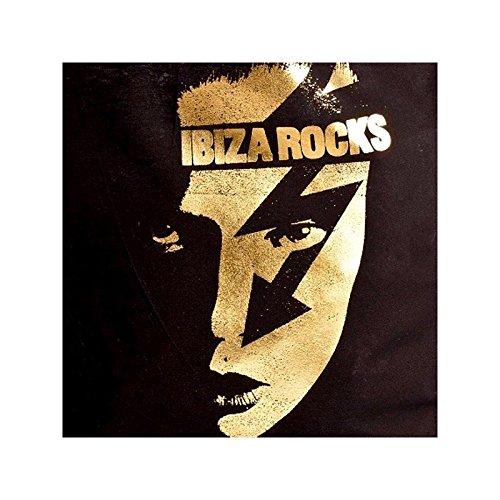 Ibiza Rocks: Borsa Shopping Faccia d'oro Nero