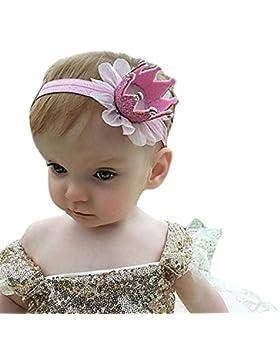 luxuriöse Mini Fieltro Kronen purpurina elástica cinta para Baby Girls accesorios accesorios
