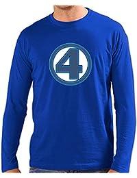 Camiseta Los cuatro Fantasticos (Personalizada con Logo Clásico) (Talla: Talla M Unisex