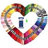 SOLEDI Stickgarn Embroidery Floss multifarben weicher Baumwolle perfekt für Freundschaftsbänder Kit Stickerei Basteln Leisure Arts Kreuzstich Embroidery Threads Nähgarne Häkeln 8m(100 Farben)